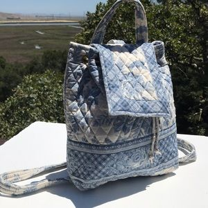 Vera Bradley Blue Toile Mimi Backpack